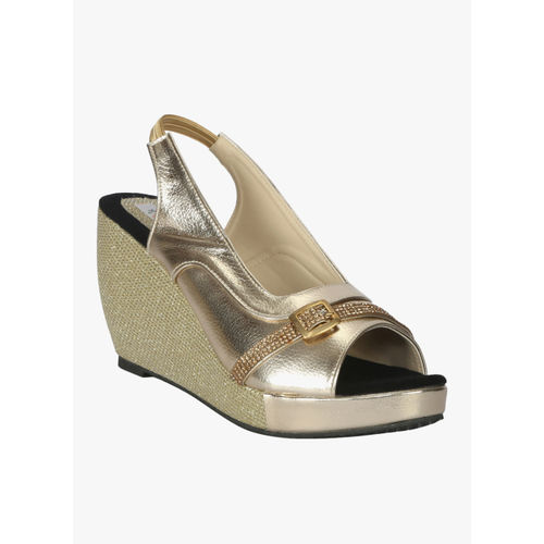 f28491cad3f Buy Zachho Gold Solid Peep Toes online