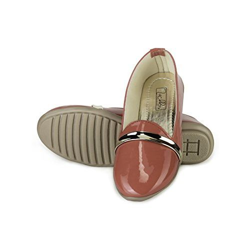 Zachho Active and Cool Peach Patent Women's Loafers