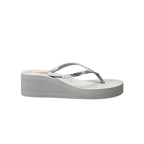 Zachho Gray Rubber Slip-on Flat Flip Flops