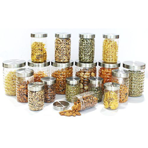 Princeware Iris Plastic Container Set, 18-Pieces, Transparent (L5384-18S)