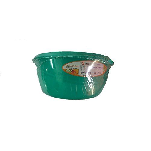 Princeware Plastic Bowl Package Container Set, Set of 5, Green