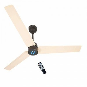 Gorilla Renesa Energy Saving 5 Star Rated Ceiling Fan With Remote Control and BLDC Motor,1200mm (Ivory Black)