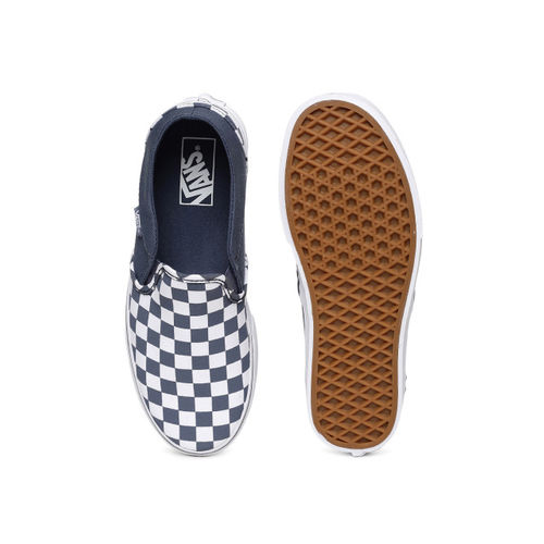 Vans Women Blue Slip-On Sneakers
