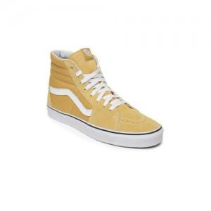 Vans Unisex Yellow Leather Sneakers