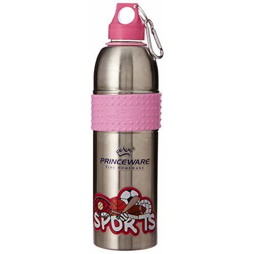 Princeware Stallion Stainless Steel Water Bottle, 600ml, Assorted