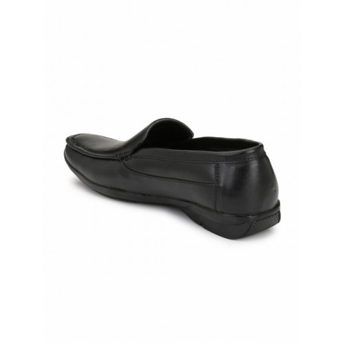 Eego Italy Men Black Formal Leather Slip-Ons