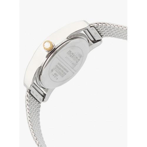 maxima Silver Analogue Watch