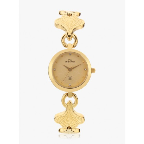 maxima Gold Round Analogue Watch