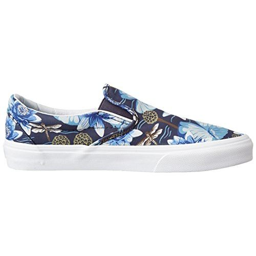 Vans Unisex Classic Slip-On (Dragon Floral) Parisian Night and True White Loafers and Moccasins - 7 UK/India (40.5 EU)