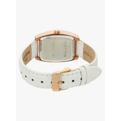 maxima Off White Analogue Watch