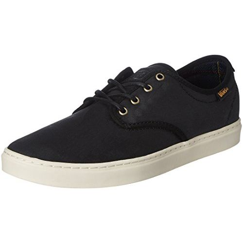 Vans Unisex Ludlow Nubuck and Plaid, Black and White Leather Sneakers - 9 UK/India (43 EU)