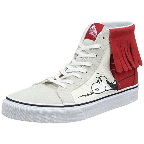 Vans Unisex SK8-Hi Moc (Peanuts) Dog House/Bone Leather Sneakers - 5 UK/India (38 EU)