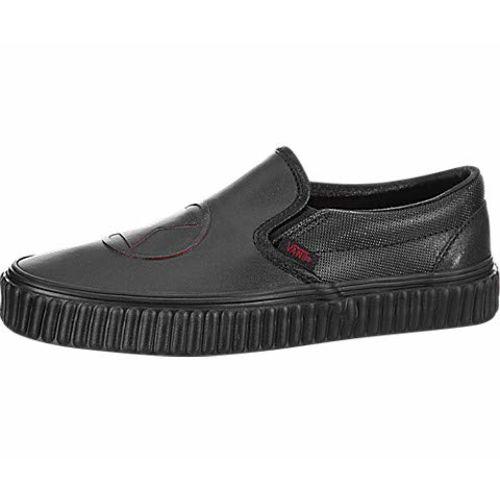 Vans Women's Classic Slip-On (Marvel) Widow/Black Leather Loafers-2.5 UK/India (34.5 EU) (VN0A38F7U7K1)