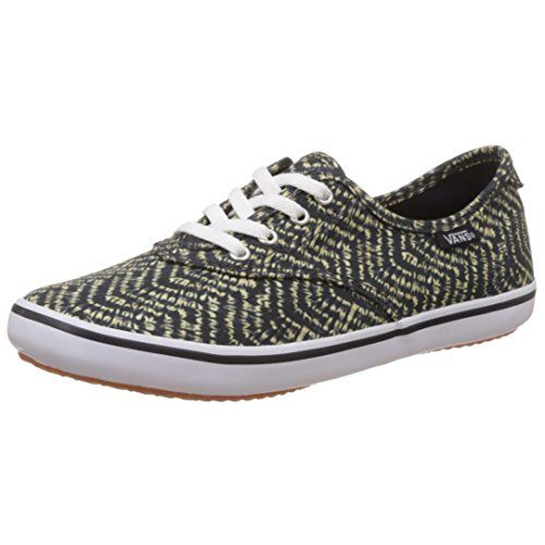 Vans Women's Chevron and Indigo Sneakers - [3.5 UK/India (36 EU) (6 US)]