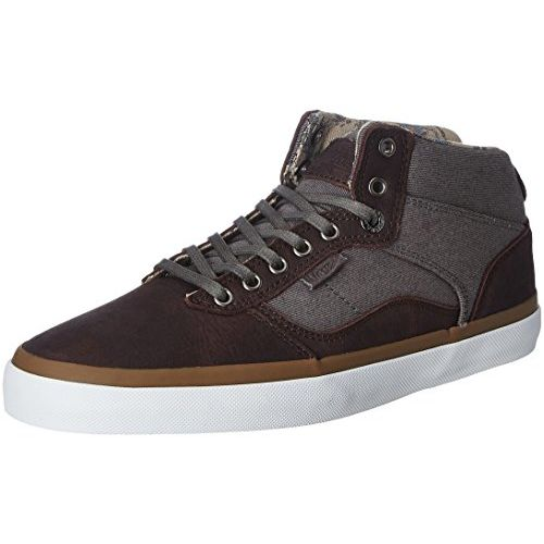 Vans Unisex Bedford Desert Cowboy, Asphalt and White Leather Leather Sneakers - 9 UK/India (43 EU)