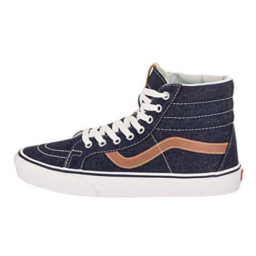 Vans Unisex's SK8-Hi Reissue (Denim C&L) Dress Blues/Chipmunk Sneakers-3 UK/India (35 EU) (VN0A2XSBQQJ1)