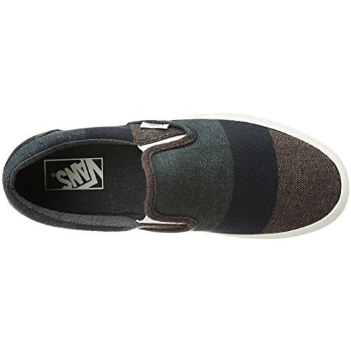 Vans Unisex Classic Slip-On Wool Stripes, Multi and Blanc De Blanc Loafers and Moccasins - 4 UK/India (36.5 EU)