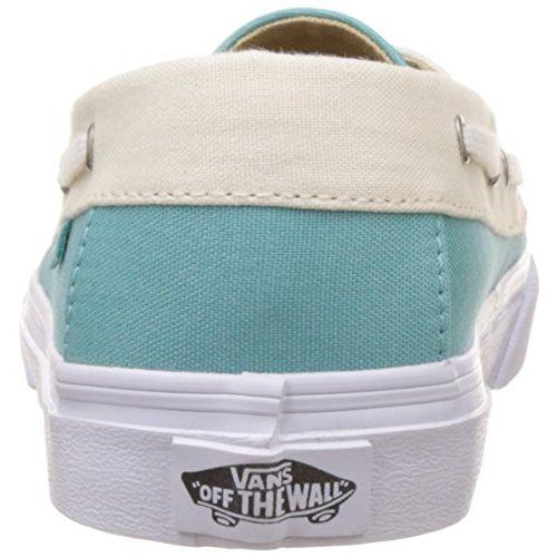 Vans Women's Chauffette SF Aqua Sea and White Sneakers - 3.5 UK/India (36 EU)