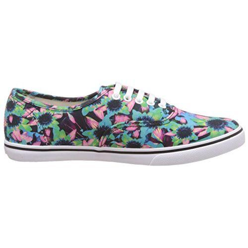Vans Unisex Floral Mix, Black and Turquoise Sneakers - [3 UK (35 EU) (5.5 US) M/3 UK (35 EU) (4 US) W]