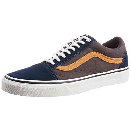 Vans Men's Old Skool Surplus Dress Blues and Blue Graphite Canvas Sneakers - 11 UK