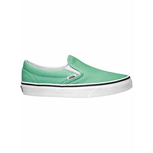 Vans Unisex's Classic Slip-On Neptune Green/True White Sneakers-4 UK/India (36.5 EU) (VN0A38F7VMX1)