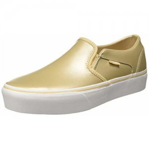 Vans Women's Asher Platform Frosted Almond Leather Sneakers-7.5 UK/India(41EU)(10US) (VN0A3WMMVV21)