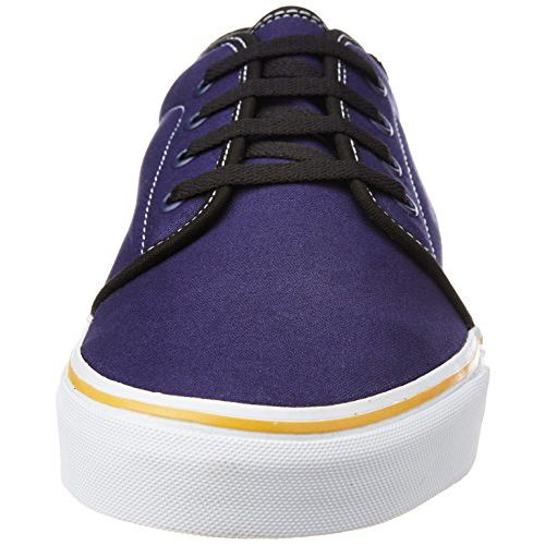 Vans Unisex 106 Vulcanized (Pop) Patriot Blue and Sunflower Sneakers - 11 UK/India (46 EU)