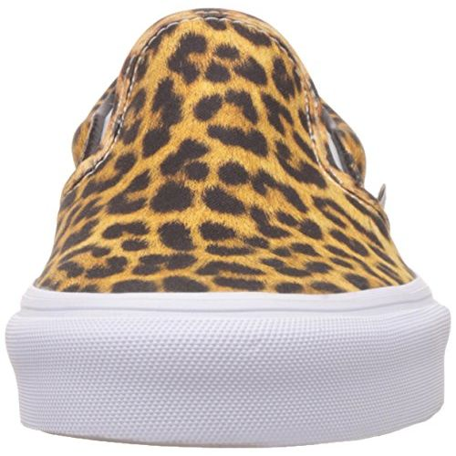 Vans Unisex Classic Slip-On (Digi Leopard) Black and True White Sneakers - 3 UK/India (35 EU)