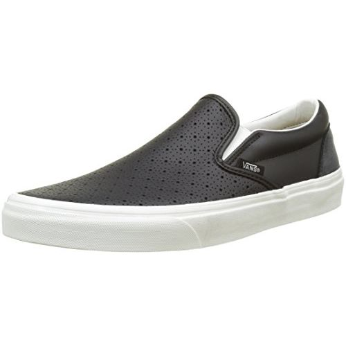 da9bb40d51 ... Vans Unisex Classic Slip-On (Leather Perf) Black Loafers and Moccasins  - 7 ...