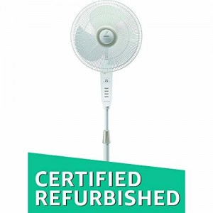 (CERTIFIED REFURBISHED) Usha Maxx Air Comfy 400mm Pedestal Fan with Remote (White)