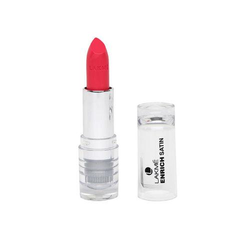 Lakme Set of Enrich Satin P173 Lipstick & Shocking Enrich Lip Crayon