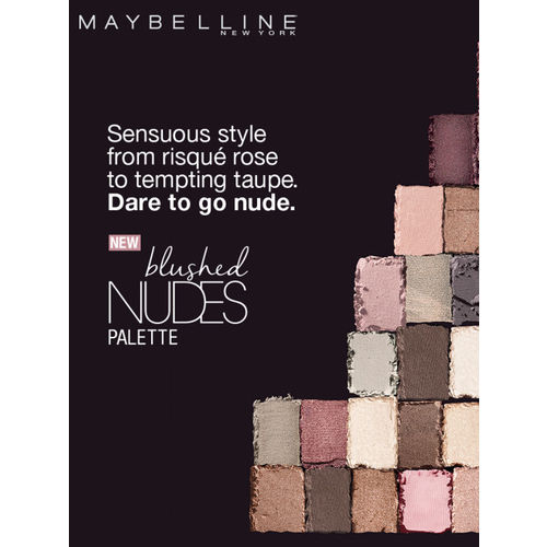 Maybelline The Blushed Skin Colors Palette Eyeshadow & Dark Chocolate Matte Nail Polish