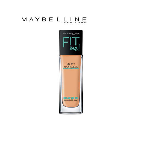 Maybelline Fit Me 230 Natural Buff Matte Poreless Foundation & Skin Colors Eyeshadow Palette