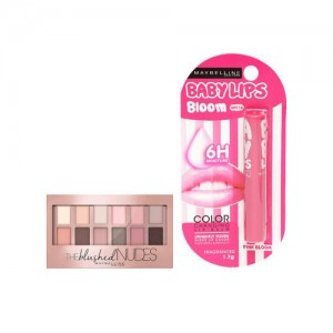 Maybelline Maybellline Pink Bloom Lip Balm & The Blushed Skin Colors Eyeshadow Palette