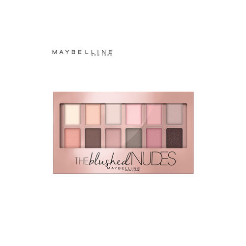 Maybelline The Blushed Skin Colors Palette Eyeshadow & Passionate Plum Lipstick