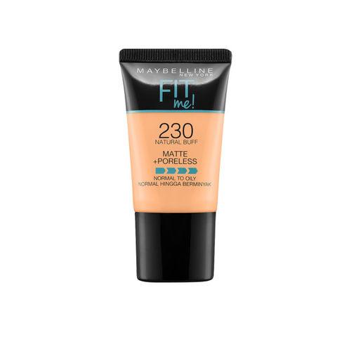 Maybelline New York 230 Natural Buff Fit Me Matte+Poreless Liquid Foundation Tube 18ml
