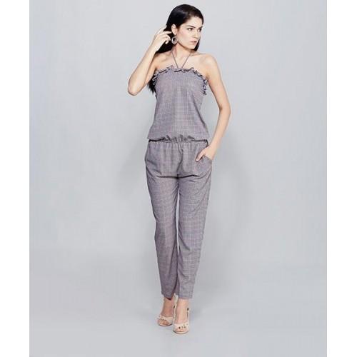 df3d5b572747 Buy Yepme Elisha Black   Red Check Jumpsuit online