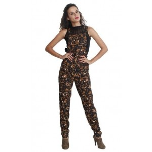 The Gud Look Womens 100% Polyester Marilyn Printed Jumpsuit