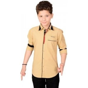 Anry Boy s Solid Casual Shirt