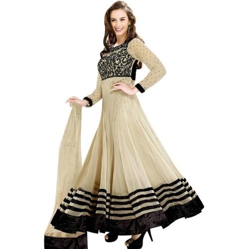 Monika Silk Mill Georgette  Semi-stitched Salwar Suit