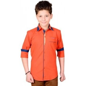 Anry Boy's Solid Casual Shirt