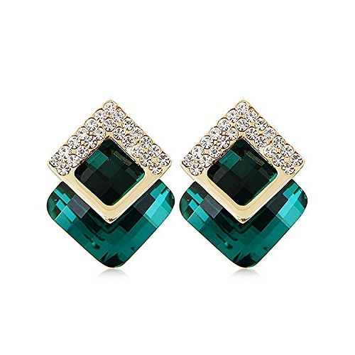 YouBella Green Gold-Plated Stud Earring For Women
