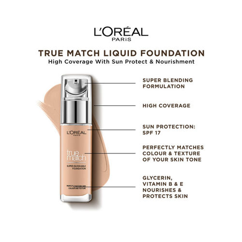 LOreal Paris Beige True Match Super-Blendable Foundation N4