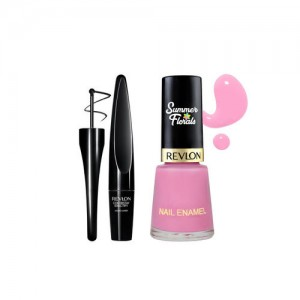 Revlon Summer Florals Sweet Pea Nail Enamel & Black Liquid Eyeliner