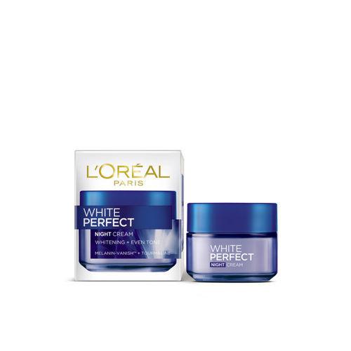 LOreal Paris White Perfect Night Cream & UV Transparent Non-Tinted Sunscreen with SPF 50