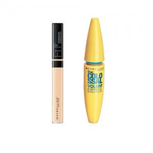 Maybelline Me 10 Light Concealer & Black Volume Express Colossal Mascara