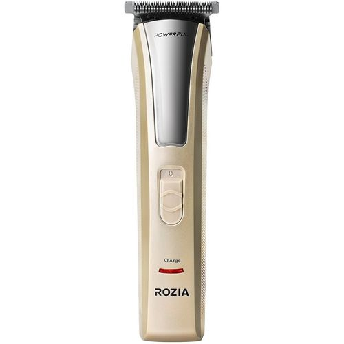 Rozia HQ228 Rechargeable Clipper with 4 Adjustable Combs Cordless Trimmer for Men(Gold, Black)