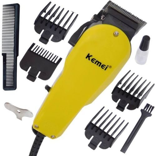Kemei New Heavy Performance Corded Trimmer Shaver Hair Clipper with Large Battery Electric Hair Cutting Machine Haircut Cutter for Men Barber Salon Corded