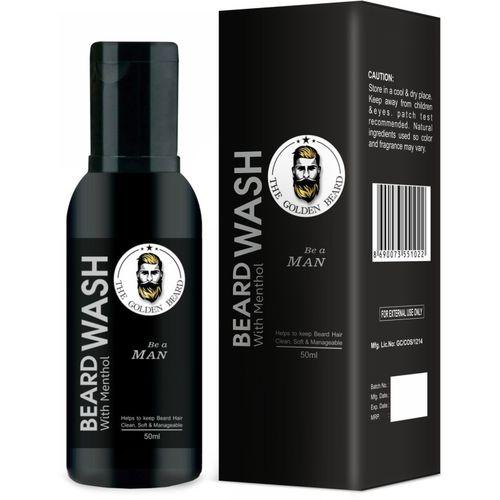 THE GOLDEN BEARD - Beard Wash (With Aloevera & Menthol) -(50 ml)