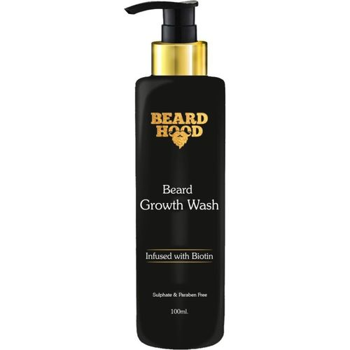 Beardhood Beard Growth Wash with Biotin and Aprikot Kernel Oil(100 ml)